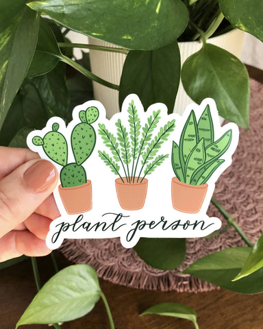 Plant Person Sticker