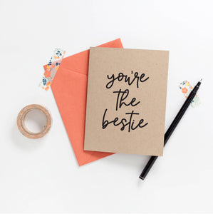 You're the Bestie Greeting Card