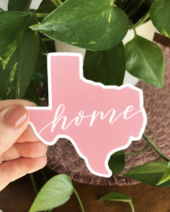 Pink Texas Home Sticker
