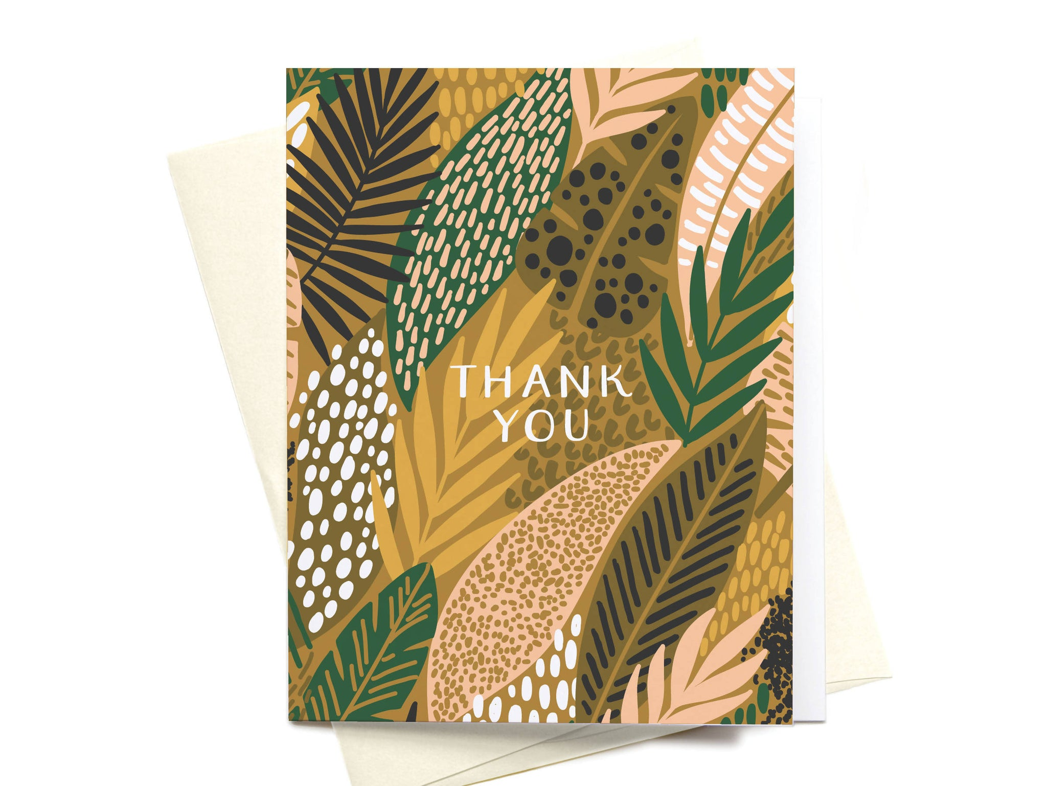 Thank You Tropical Jungle Pattern Greeting Card