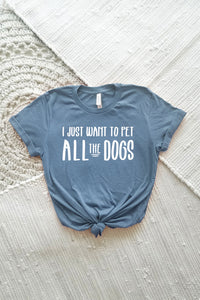 Pet All the Dogs Adult Crewneck Tee