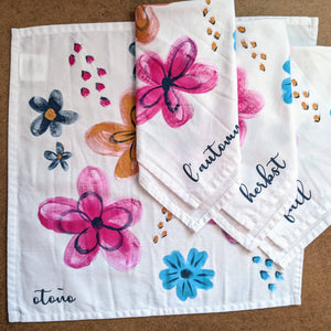 Fall Floral Napkins