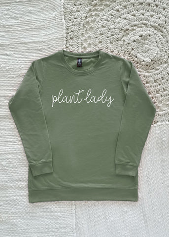 Plant Lady Adult Lightweight Sweatshirt