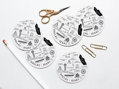Dallas Neighborhoods Coaster Set