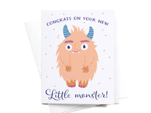 Congrats on Your Little Monster Greeting Card