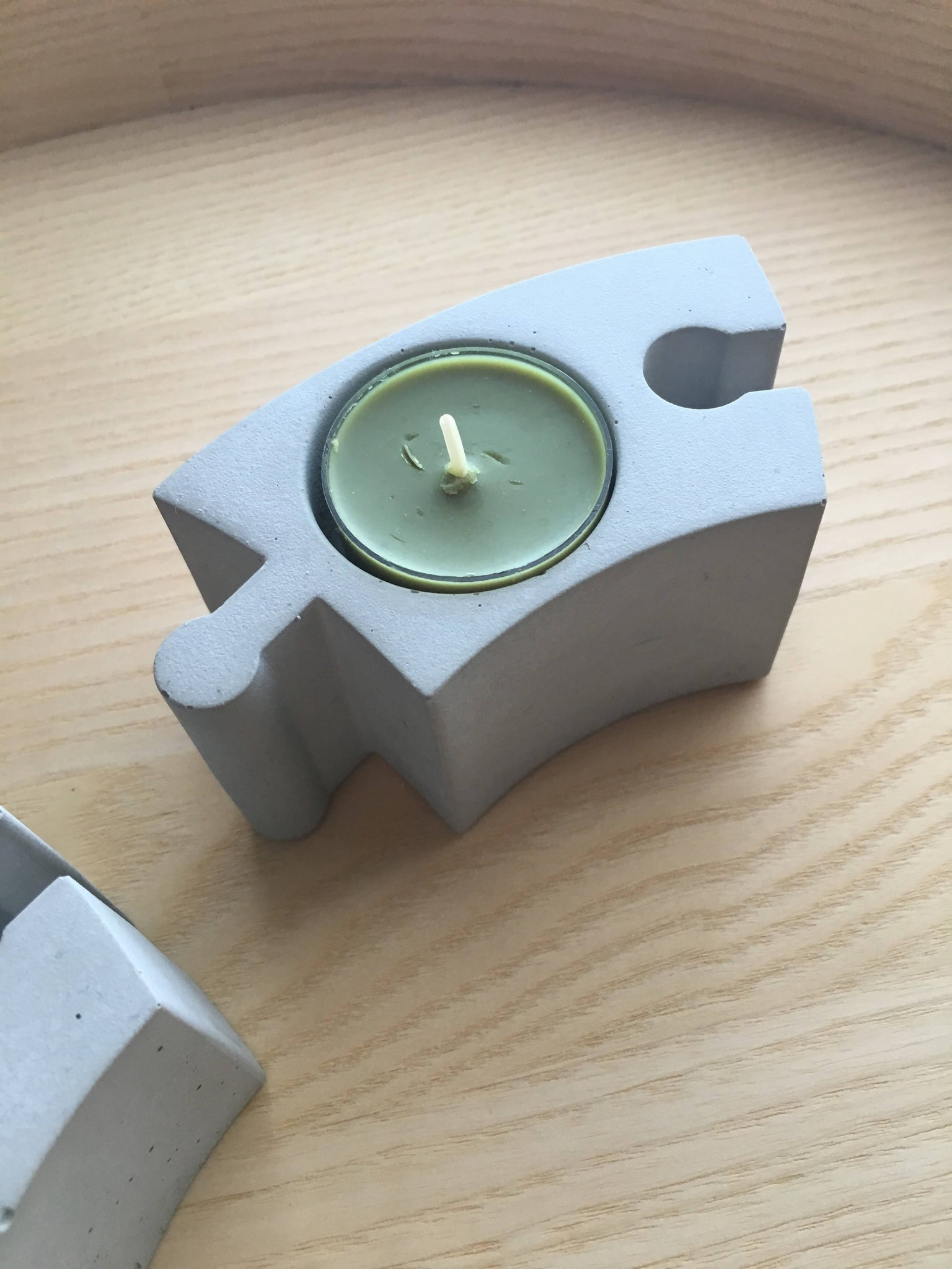 cement puzzle tealight holder