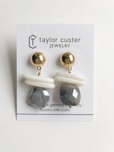 Winter Moonstone Earrings