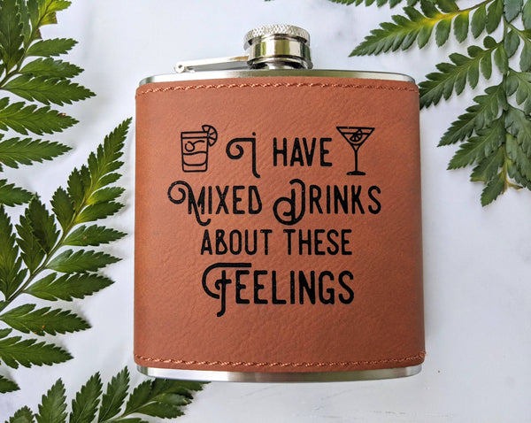 Vegan Leather Covered Flask