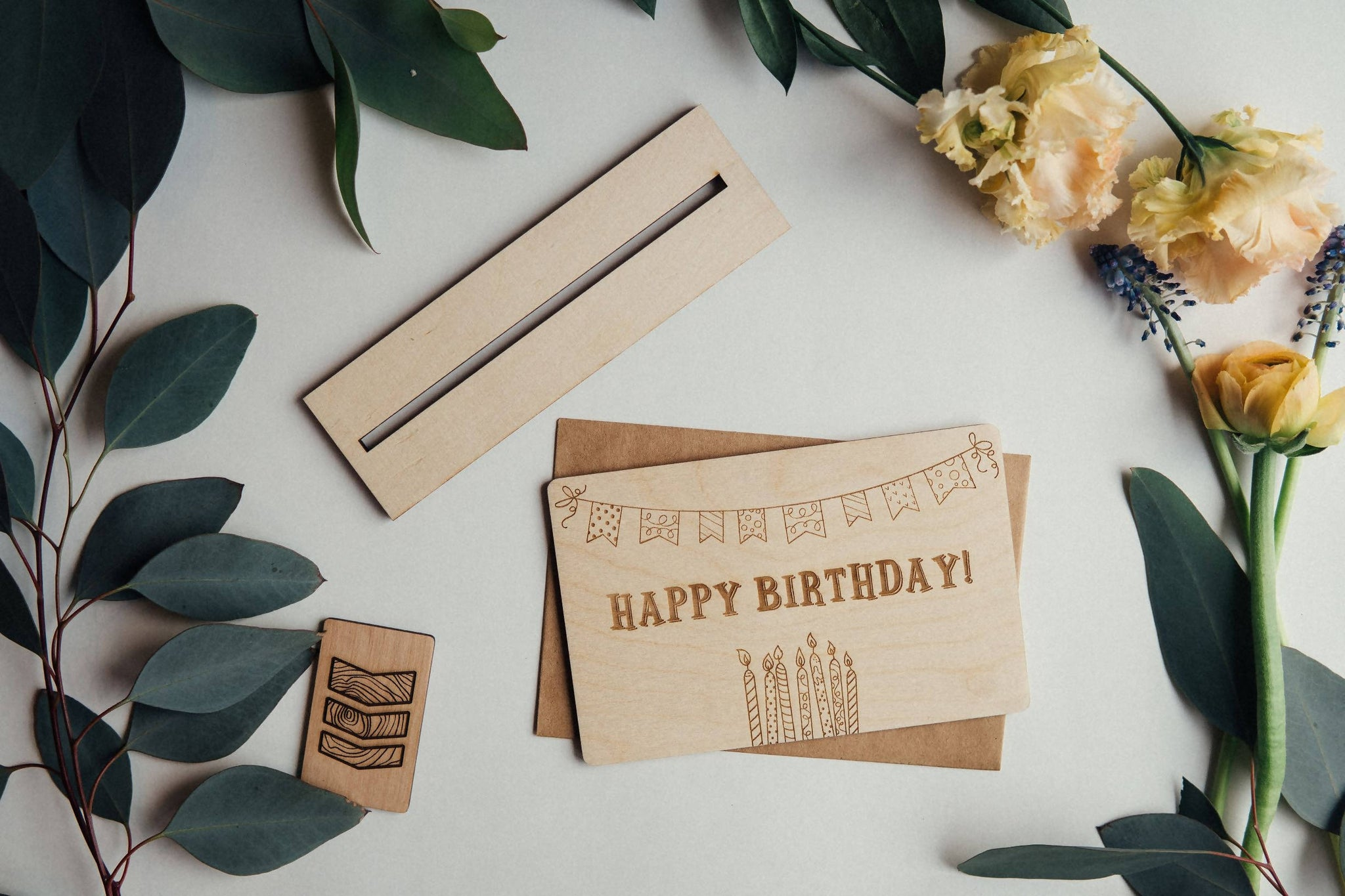 Happy Birthday Wooden Greeting card