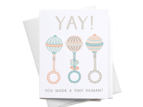 Yay! You Made a Tiny Human! Greeting Card