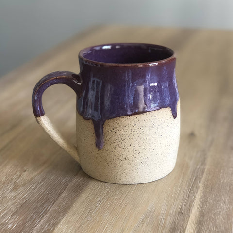 Purple Drippy Pottery Mug