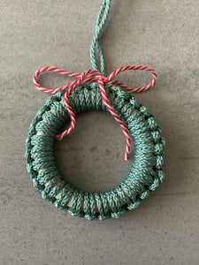 macrame + wood wreath ornament