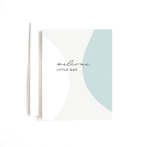 Blue Welcome Little One Card