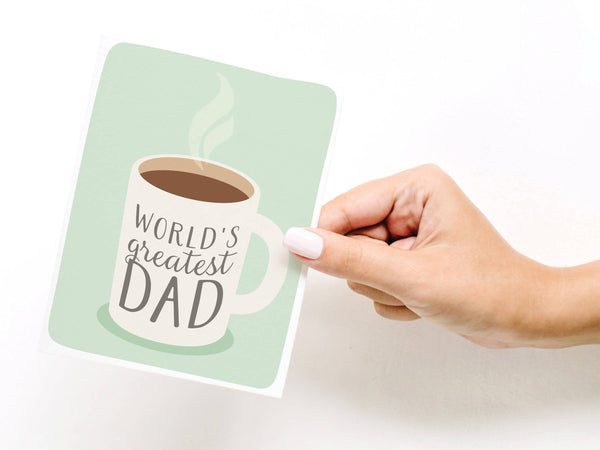 World's Greatest Dad Coffee Greeting Card
