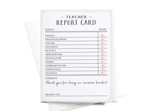 Teacher Report Card Greeting Card