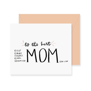 Mom Checklist Greeting Card