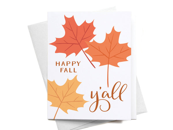 Happy Fall Y'all Greeting Card