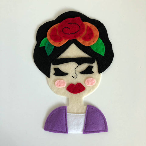 Frida - Iron On Applique/Patch - Made Out of 100% Recycled Felts