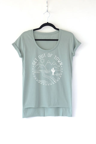 Get Out of Town Ladies Scoop Neck Tee