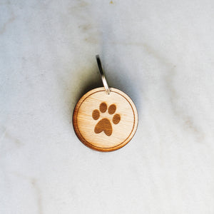 Circle Paw Dog Tag