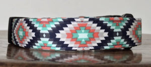 BLUE AZTEC DOG COLLAR