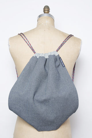BLUE DRAWSTRING - BACKPACK