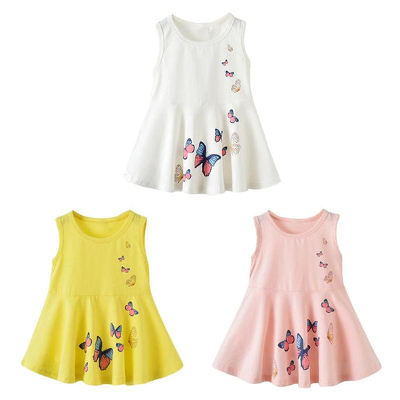 Kids Sleeveless Butterfly Dress