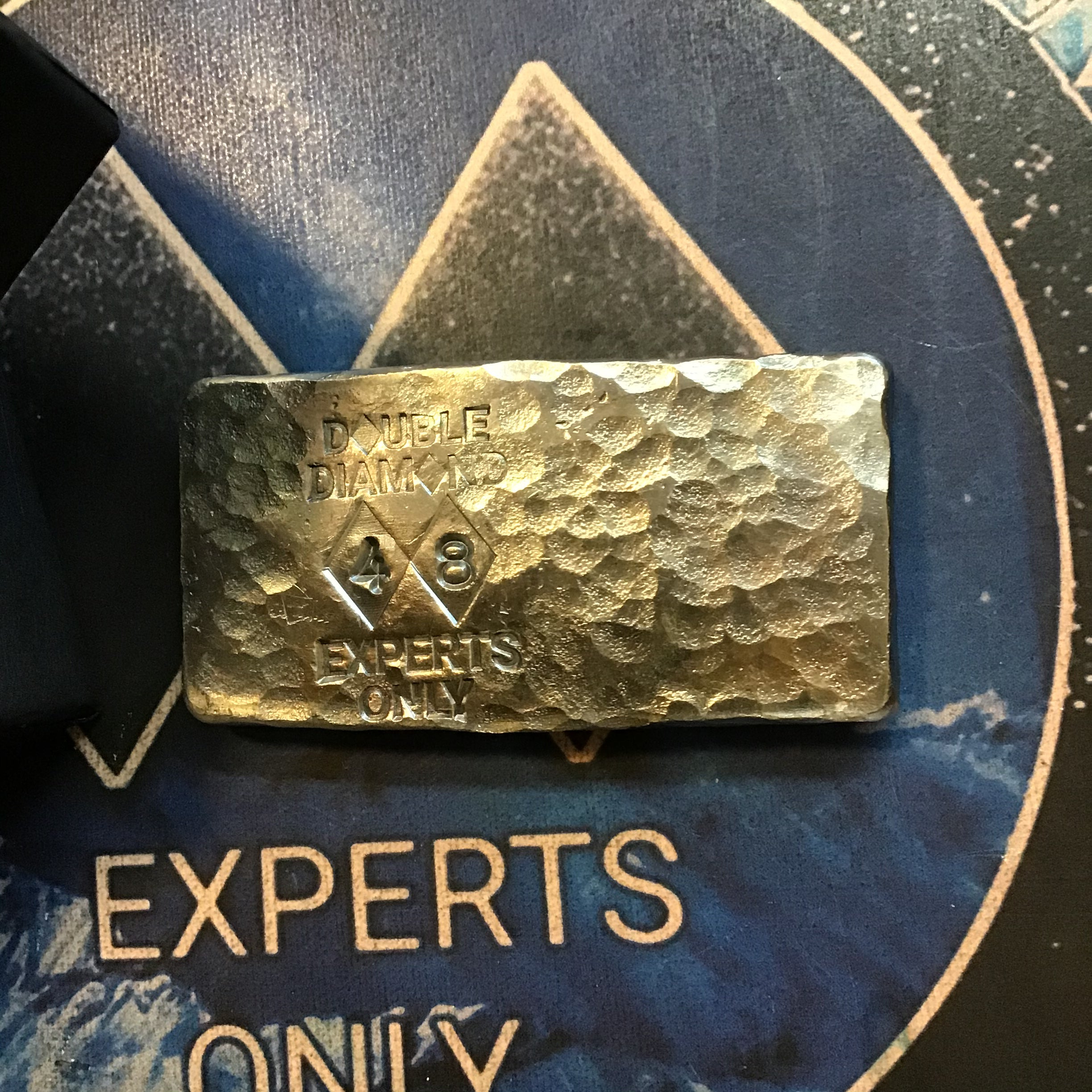 "Double Diamond Bullion ""Experts Only"" 3 oz. Avalanche Silver Bar"