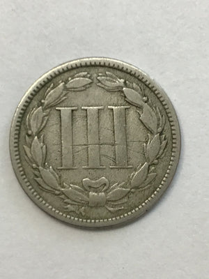 1870 Three Cent Nickel Piece