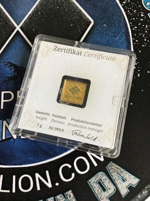 1 gram Geiger Edelmetalle Sealed Fractional Gold Assay
