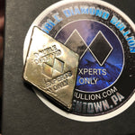 "Double Diamond Bullion-""Experts Only"" 2 Oz. Diamond Bar"