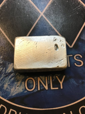 Bercume Bullion Hand Poured 2 oz. Silver Bar .999- Moose Antler Logo
