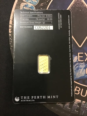 Perth Mint 1 Gram Gold in Sealed Assay