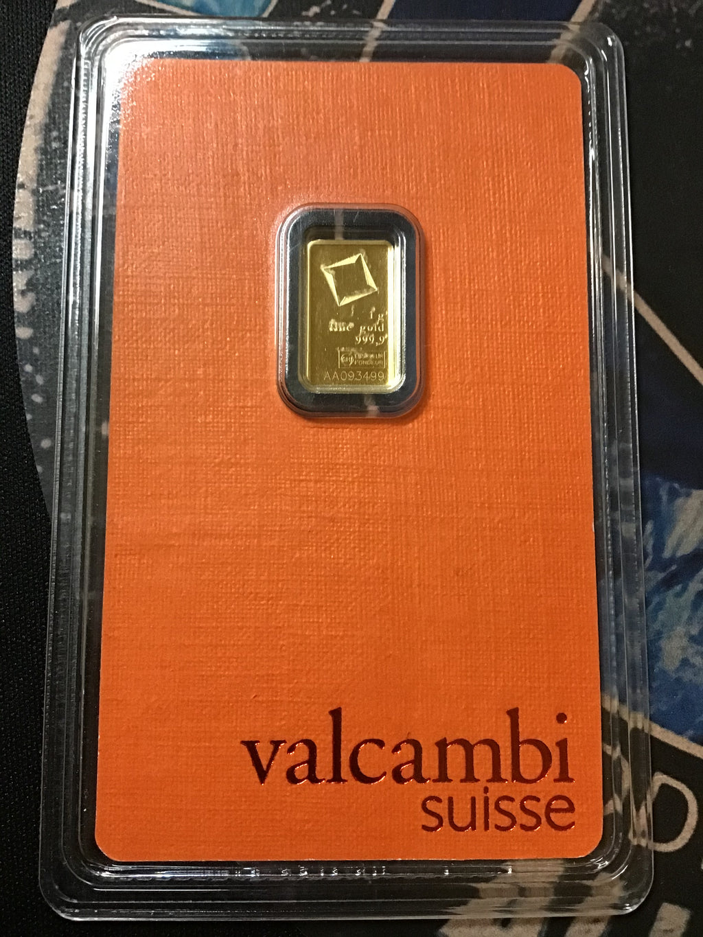 Valcambi 1 Gram Sealed Gold Assay