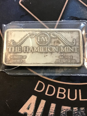 Hamilton Mint 1 oz. Mt. Rushmore Bar