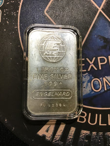 Engelhard MC  1 oz. Vertical .999 Silver Bar