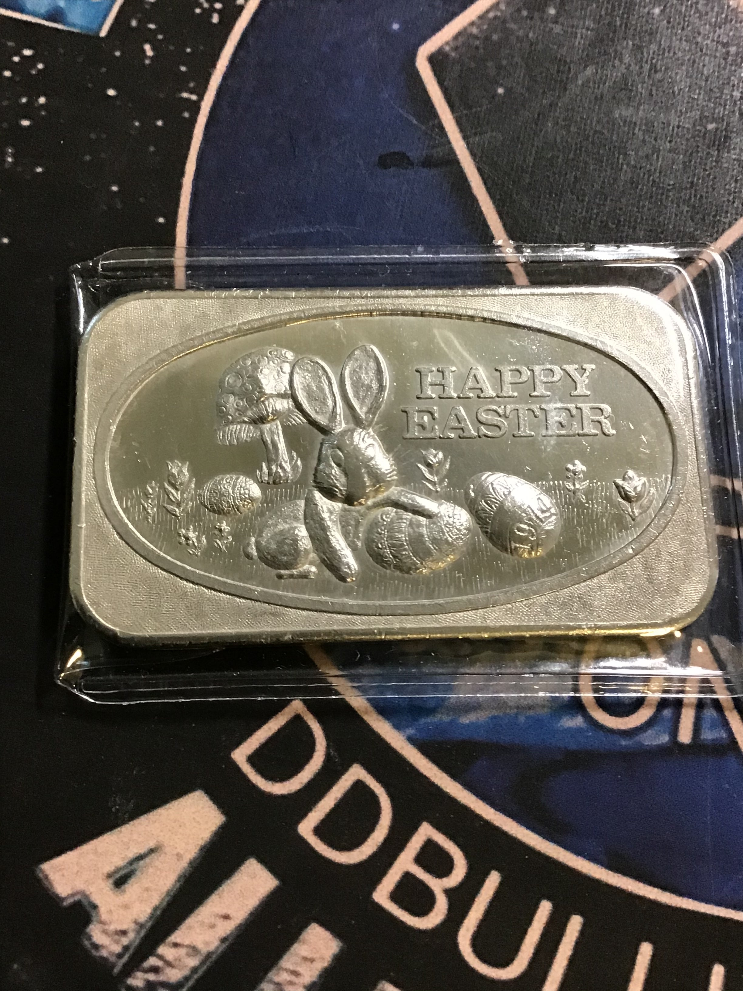 United States Silver Corporation-Happy Easter Art Bar 1 oz. Silver .999
