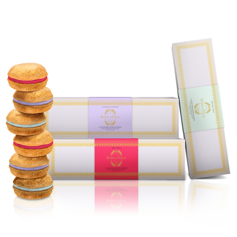 Bundle of 3-Boxes Dog Macarons - Bonne et Filou