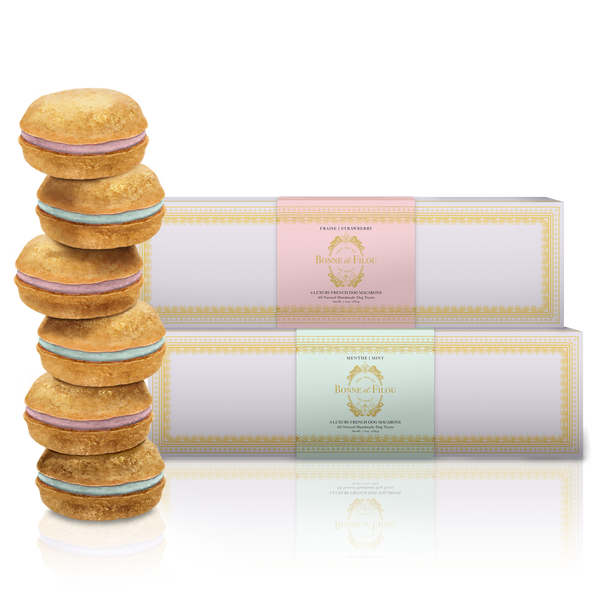 Bundle of 2-Boxes Dog Macarons - Bonne et Filou