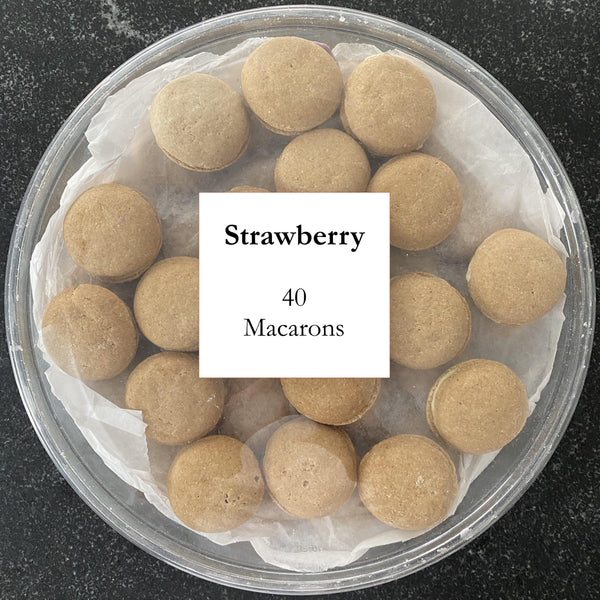 Strawberry Dog Macarons - Count 40 - Bonne et Filou