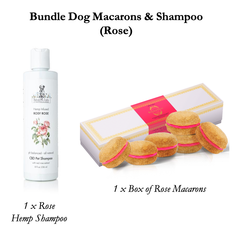 Bundle Dog Macarons & Pet Shampoo (Lavender or Rose) - Bonne et Filou