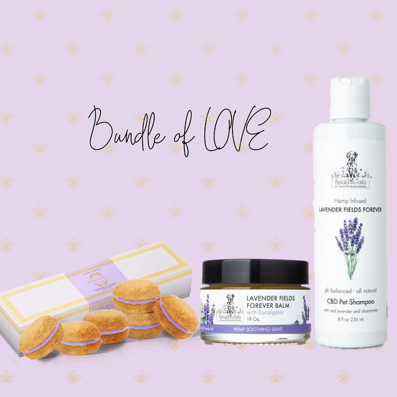 Bundle Dog Macarons, Pet Shampoo & Balm (Lavender or Rose) - Bonne et Filou