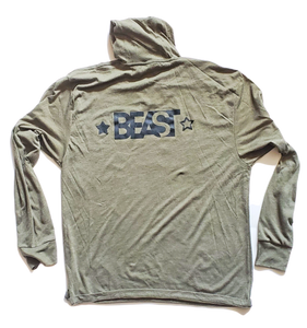 Camo Green Pullover Hoodie with Black Gorilla Beastyle Graphic