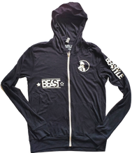 Load image into Gallery viewer, Beastyle Black Zip-Up Hoodie