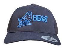 Load image into Gallery viewer, The Lion - Black Trucker Mesh (Various Logo Colors)