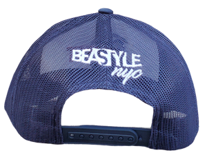 The Gorilla - Navy Blue/White Trucker Mesh