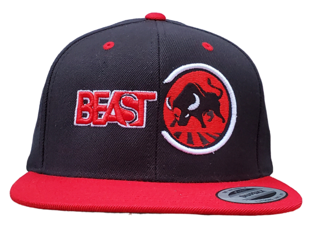 The Bull - Black/Red Snapback