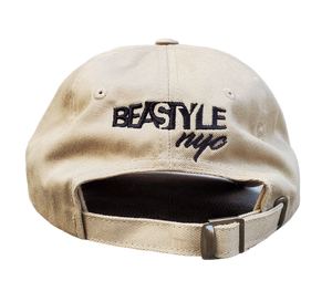 The Gorilla - Tan Dad Hat with Black Logo