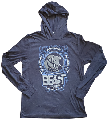 The Elephant - Heather Navy Blue Pullover Hoodie