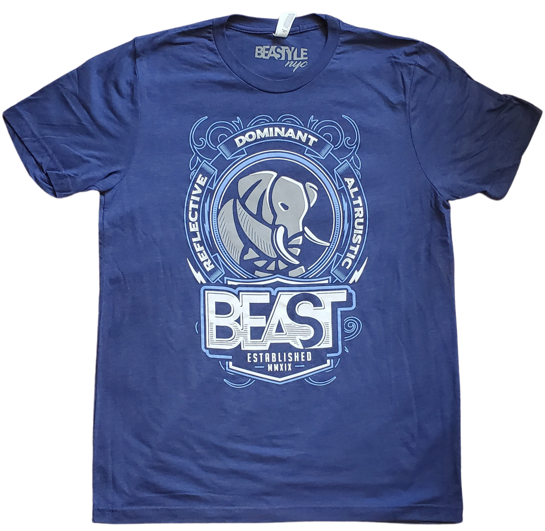 Navy Blue Tee with Elephant Graphic